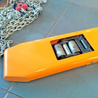 Гидравлическая тележка MB-E10 Gaint Move с низким клиренсом, вилы 1150мм
