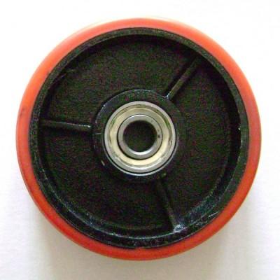 58P-DB Колесо рулевое ∅160x50 в сборе с подшиниками, ∅ вн. 20мм, полиуретан
