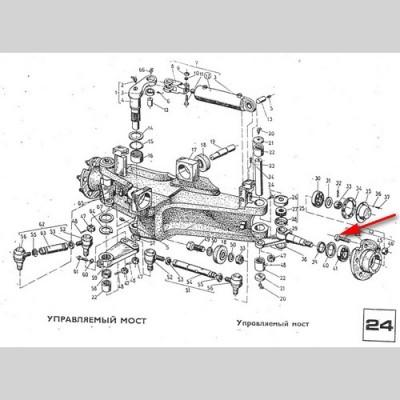 Болт колеса М14Х1.5 (Рекорд-2 ЕВ-687) 6187 03.00.04, 1680990