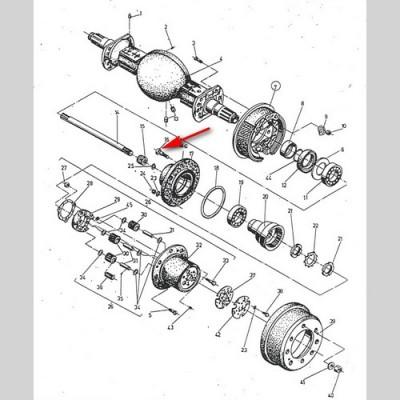 Болт колеса М22х1,5, 6199 01.00.06, 2657840