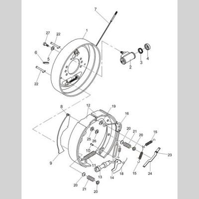 Колодка тормозная Heli 21233-70150G