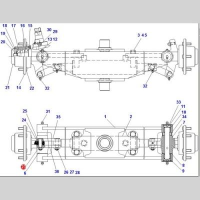 Палец (Погрузчики Doosan B18S D15S-5 D18S-5 G15S-2 G18S-2 B18S) A161341