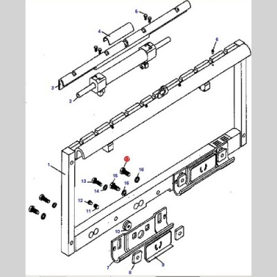 Болт (Погрузчики DOOSAN D20G/D25G/D30G(4TNV98)) A376521