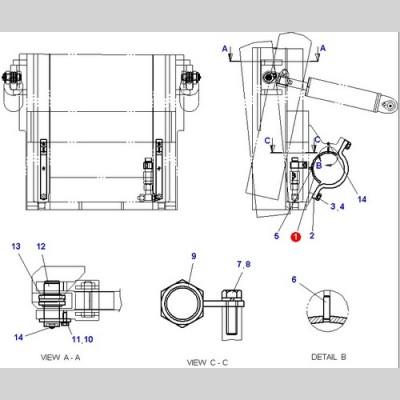 Втулка (вкладыш) (Погрузчики DOOSAN B18S D15S-5 D18S-5 G15S-2 G18S-2 B18S-5) D580022
