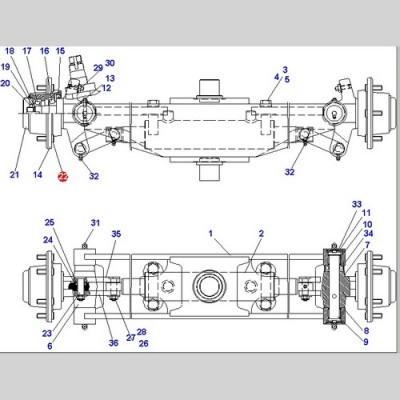 Болт колеса (Погрузчики DOOSAN B15T-2 B18S D15S-5 D18S-5 G15S-2 G18S-2) D910340