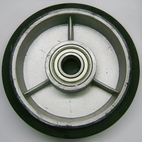 58R-DB Колесо рулевое ∅160x50 в сборе с подшиниками, ∅ вн. 20мм, резина